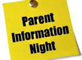Parent Info Evenings