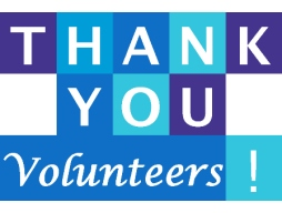 "Volunteers... ""Thank You!"""